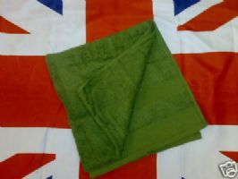 *NEW AND GRADE1* BRITISH ARMY MILITARY TOWEL GREEN 1100 X 600 OR 1440 X 1000 OR 1000X500